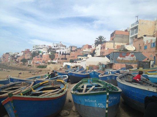 Taghazout Beach: la plage e il villaggio