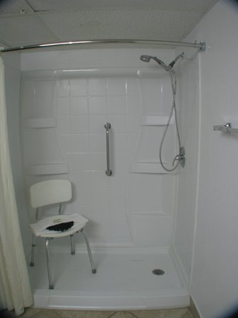 Dodge House Hotel: King Handicap Bathroom