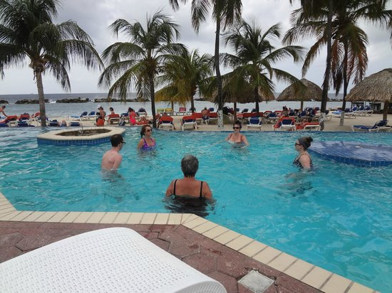 Sunscape Curacao Resort Spa & Casino:                   Aqua fit class, in the main pool