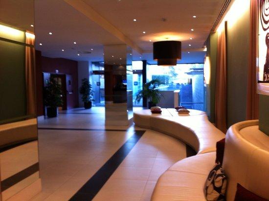 Hotel Nuevo Boston:                   The lobby