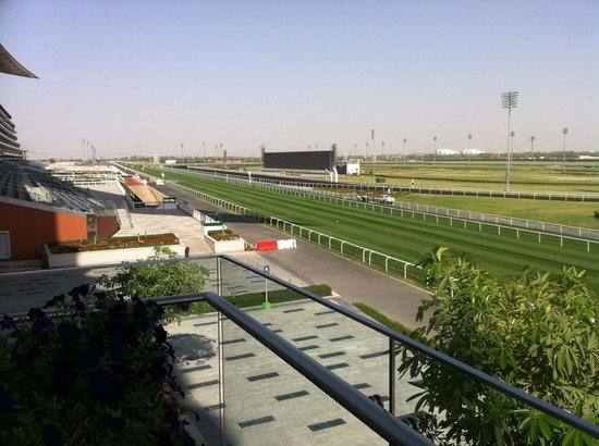 The Meydan Hotel:                   Racetrack from Terrace