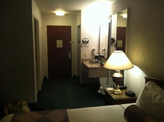 Wyndham Garden Hotel Arlington:                   looking towards the door. Extra sink