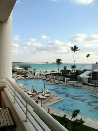 Sandals Royal Bahamian Spa Resort & Offshore Island:                   view from room looking toward beach/pool