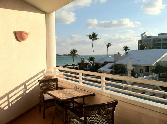 Sandals Royal Bahamian Spa Resort & Offshore Island:                   table on patio perfect for breakfast