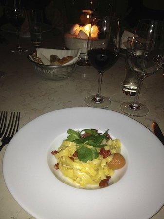 Seerestaurant L'O :                   lemony pasta with Pancetta