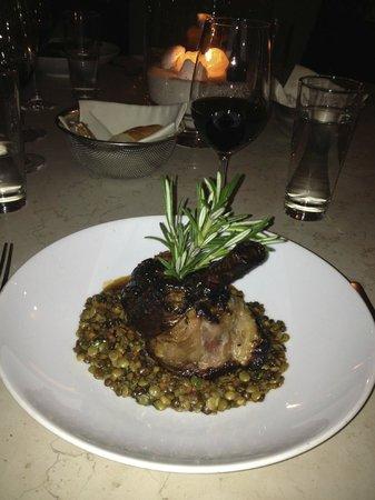 Seerestaurant L'O :                   Lamb with lentils