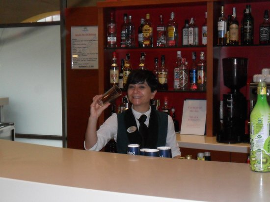 Hotel Mediterraneo Benidorm:                   out terri the bar maid