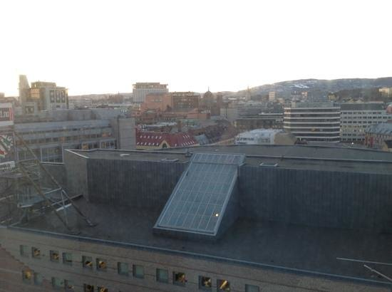 Radisson Blu Plaza Hotel, Oslo:                                     view from 13th floor