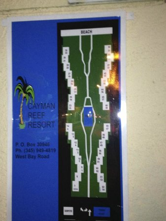 Cayman Reef Resort Property Map