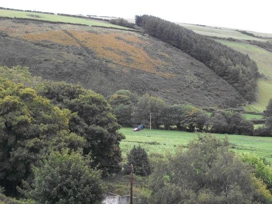 Doone Valley Campsite: That dot in the field is us.