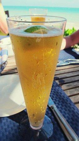 Secrets Capri Riviera Cancun:                   Corona at the beach front restaurant