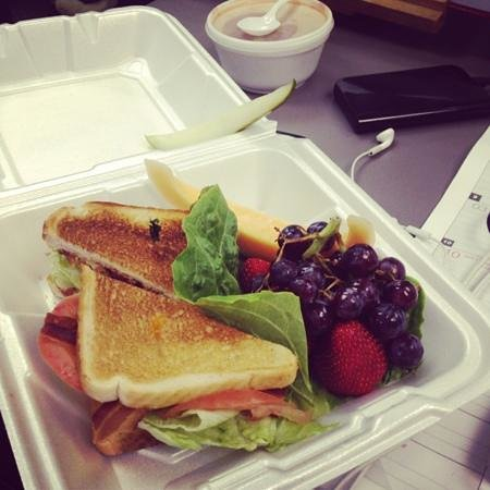 Stacy's Cafe:                   blt to go with fruit