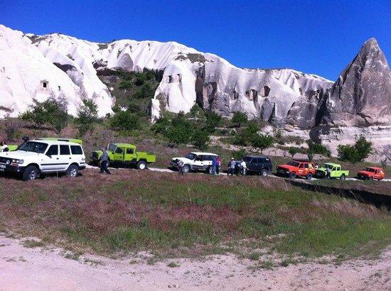 Cappadocia Hitchhiker:                   Jeep safarı