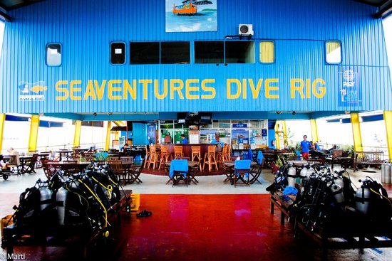 Seaventures Dive Rig:                   at the rig