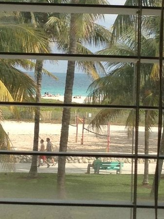Avalon Hotel:                   Beach view from room