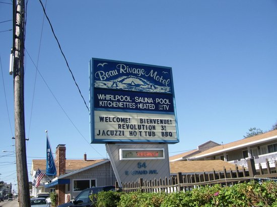 Le Beau Rivage Motel tout près de la mer.