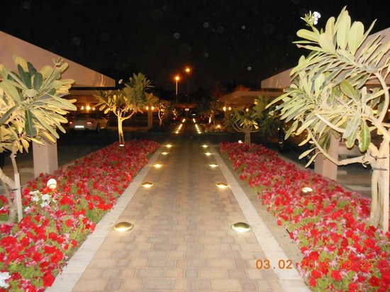 Gulf Hotel Bahrain:                   Lighted Gardens Welcome Guests