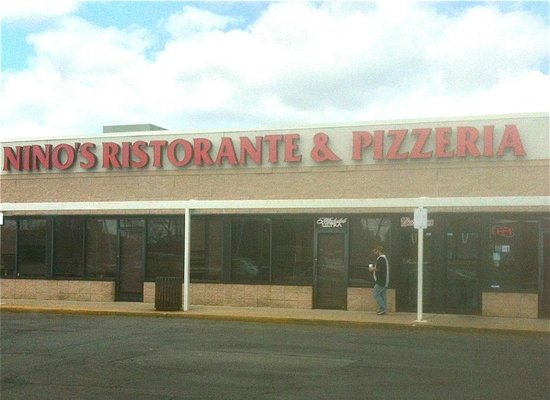 Nino's Pizza:                   Located in a strip mall on US 40 at Md Rt 7. You can't miss the sign.