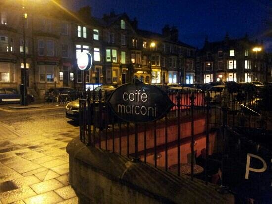 Caffe Marconi on pleasant professional square in the heart of Harrogate
