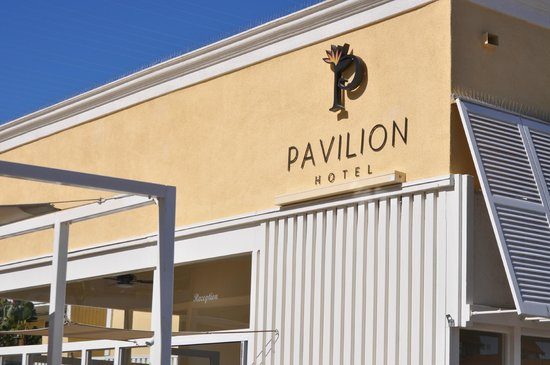 Pavilion Hotel:                   Exterior over front entrance