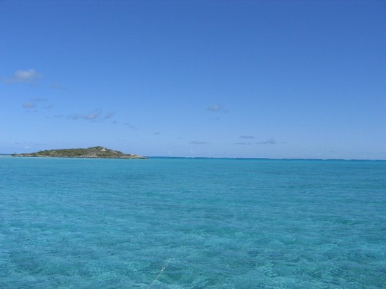 Crooked Island:                                     View of Bahamas from private boat.