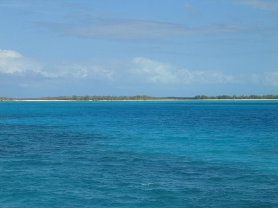 Crooked Island :                                     View of Bahamas from private boat.