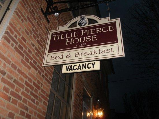 Tillie Pierce House Inn:                   Tillie Pierce sign