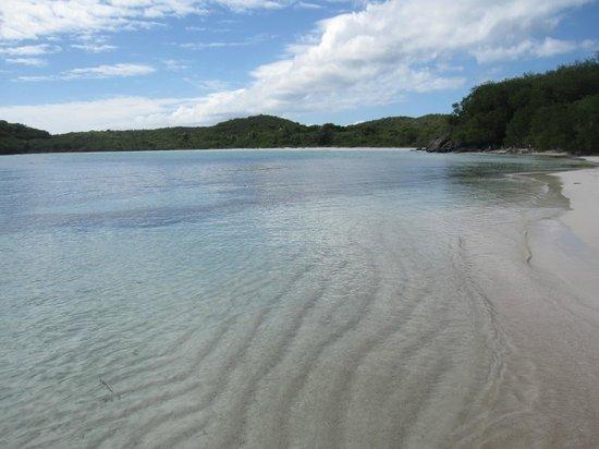 Blue Beach :                   crystal clear waters