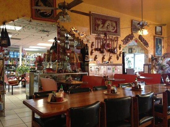 International Market & Restaurant:                   Inside - view of the 2 rooms