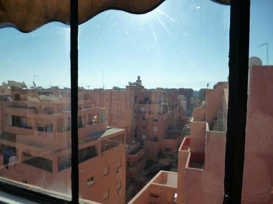 Moroccan House Hotel:                   la vista dalla terrazza