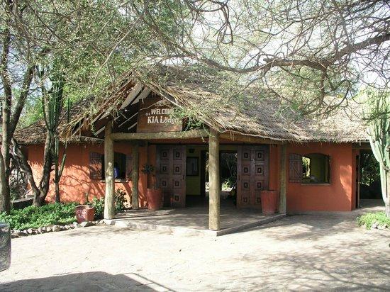 Kia Lodge – Kilimanjaro Airport:                   Front entrance to Kia Lodge