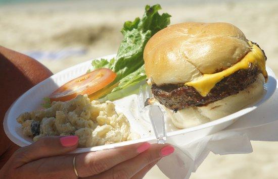 Heidi's Honeymoon Grill:                   HUGE Cheeseburger in paradise