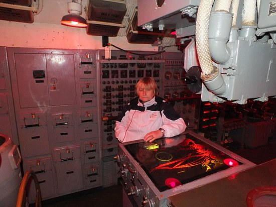 USS Pampanito:                   Fire & control room..