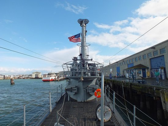 USS Pampanito:                   A good view on deck..