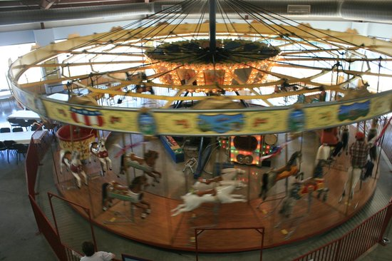 C.W. Parker Carousel Museum:                   Top view of the 1913 Parker carousel