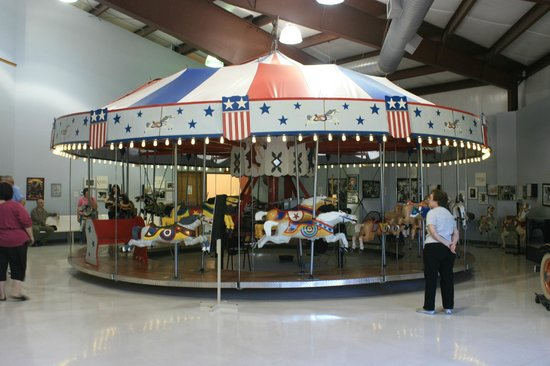 C.W. Parker Carousel Museum:                   The Parker Liberty Carousel from the 1950s.