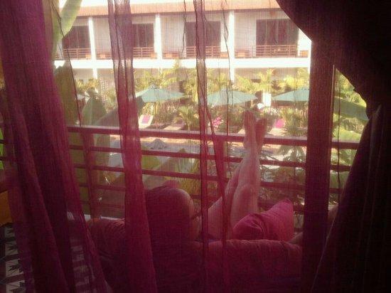 ลา นิช ดิ อังกอร์ บูติก โฮเต็ล:                   Balcony View