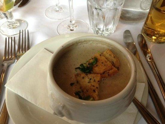The Pig's Ear :                                     mushroom soup