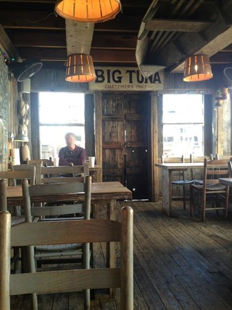 "Big Tuna Restaurant & Raw Bar - Old Fish House :                                     Inside the ""Shack"" dining room"