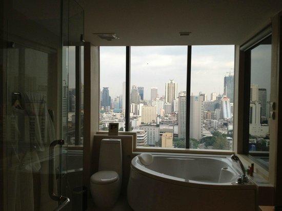 Sivatel Bangkok:                   view from bathroom
