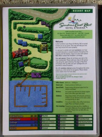 Sunshine Coast Resort Hotel & Marina:                   Map of Resort