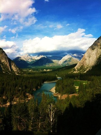 Fairmont Banff Springs:                   Our view from our suite!!