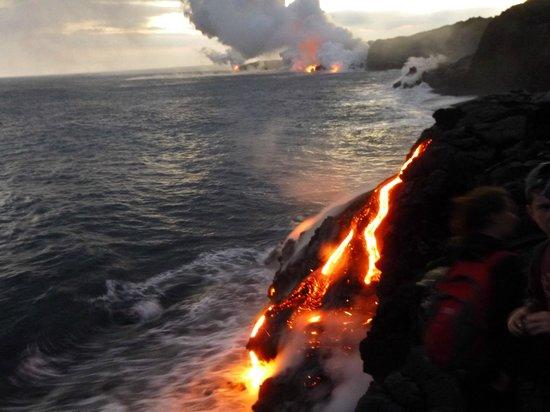 Dolphin Bay:                   Multiple Lava Flows