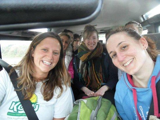 Koru Kayaking: Hen doo travelling in the Koru Landrover