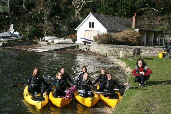 Koru Kayaking: Hen doo ready to set out on Frenchman's Creek Kayak Adventure