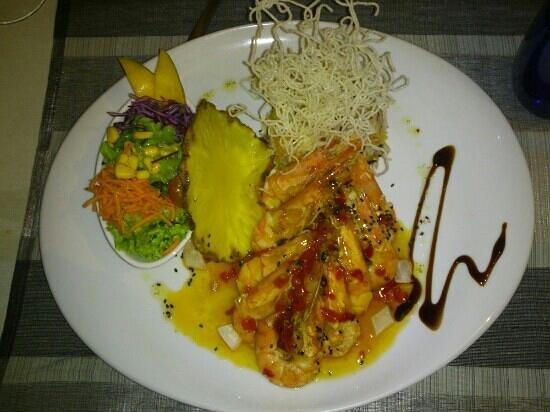 Restaurante Ysconderijo :                                     gambas au riz sauvage, simplement délicieux...