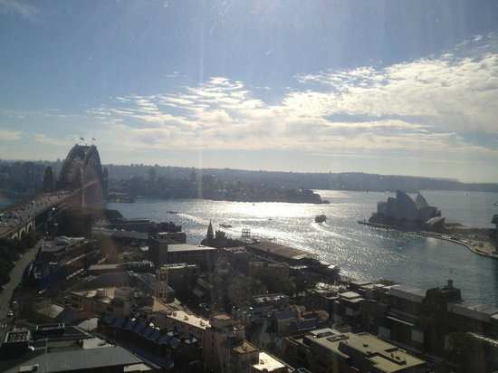Shangri-La Hotel Sydney:                   My bad photo doesn't do the view justice