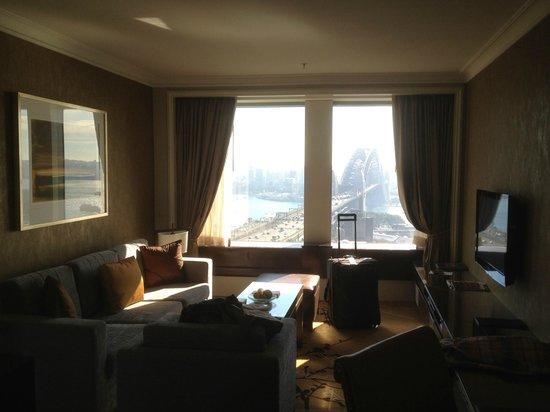 Shangri-La Hotel Sydney:                   The sitting room with a large desk area