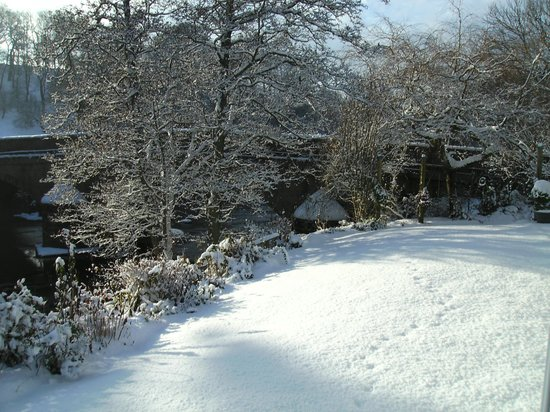 Winter Snow At River Cottage