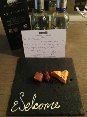 Blythswood Square:                   Birthday Welcome Message